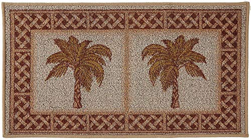 BACOVA Rattan Double Palm Berber Loop Rug One Size -
