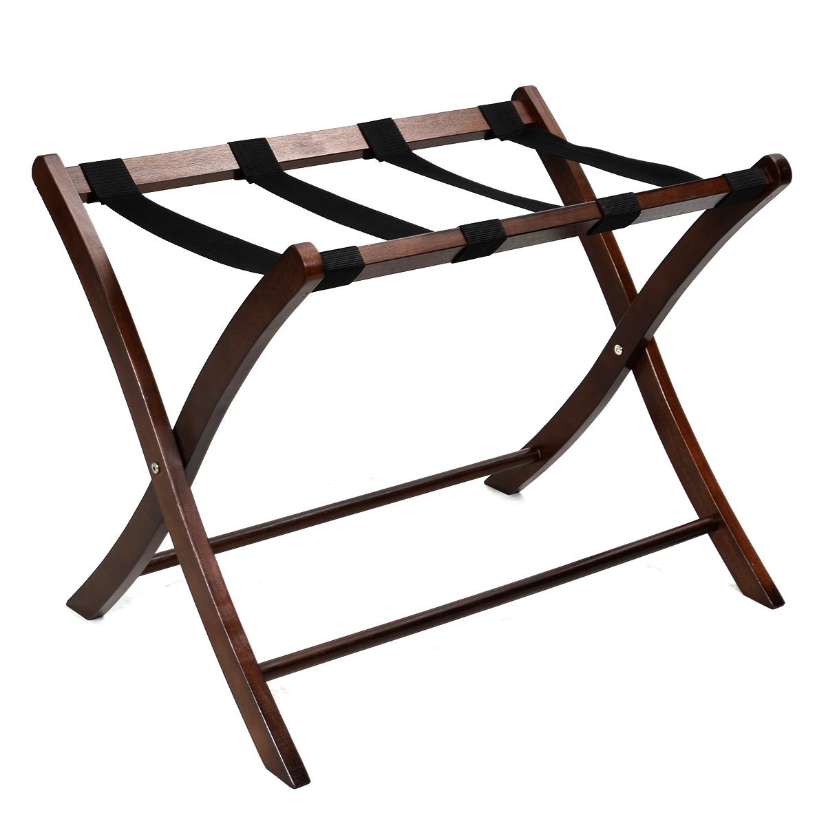 New Folding Winsome Wood Luggage Rack Classic Hotel Suitcase Stand Passenger