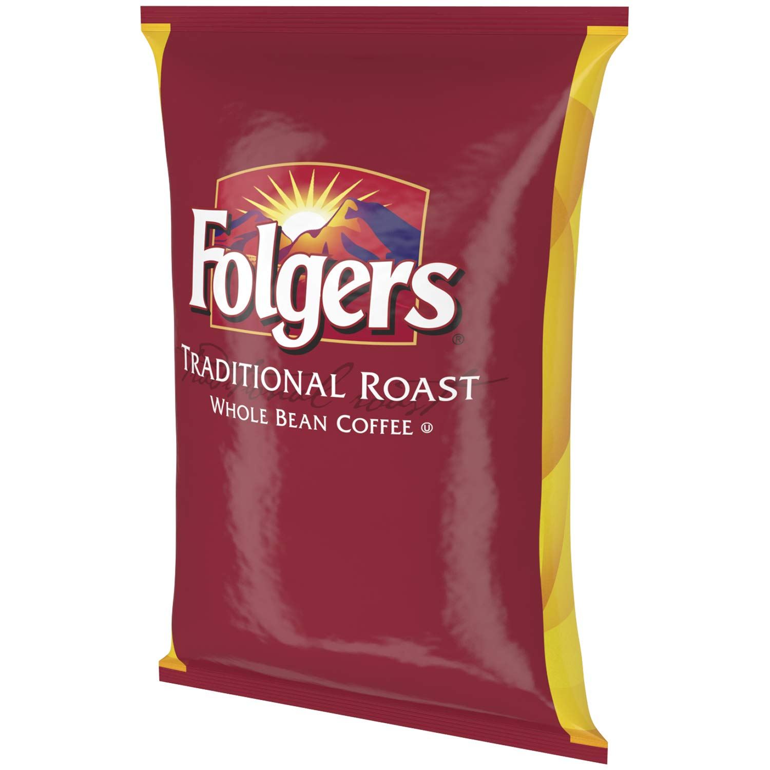Folgers Traditional Roast Whole Bean Coffee, 80 Ounce Bag (5 pound)