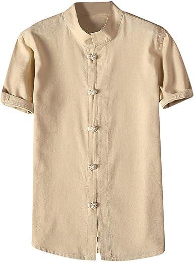 HucodeVan - Camisa de Hombre para Ocio, Corte Delgado, con ...