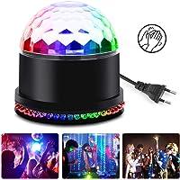vitutech Luces Discoteca Bola, Luz de Discoteca 7 Colores RGB LED Giratoria Luz Mini Lámpara de Etapa para Cumpleaños, Discoteca, Fiesta, DJ Bar, Karaoke, Navidad, Bodas, Club Pub - Control de voz