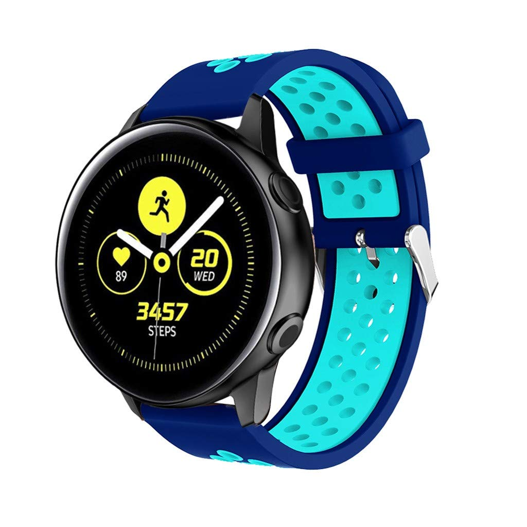 Sinma Watch Bands Strap Rubber Replacement Bands Watch Straps Smart Watches for Samsung Galaxy Watch Active (Dark Blue)