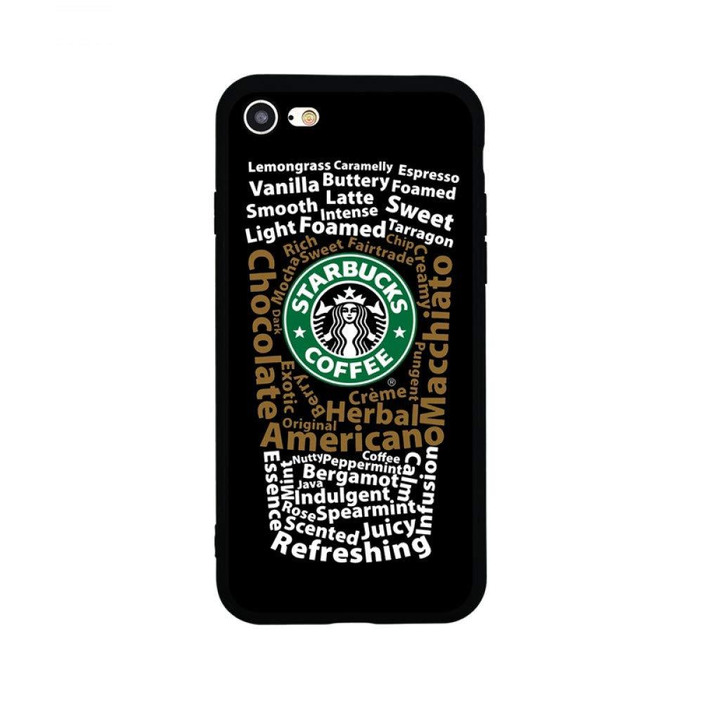 ERQINGT Etui pour Téléphone Portable Étui De Tasse De Café De Bande Dessinée Mignonne pour Iphone 7 8 Plus X Étui en Silicone Souple pour Iphone 6 6S Plus 5S Se ERQINGT@