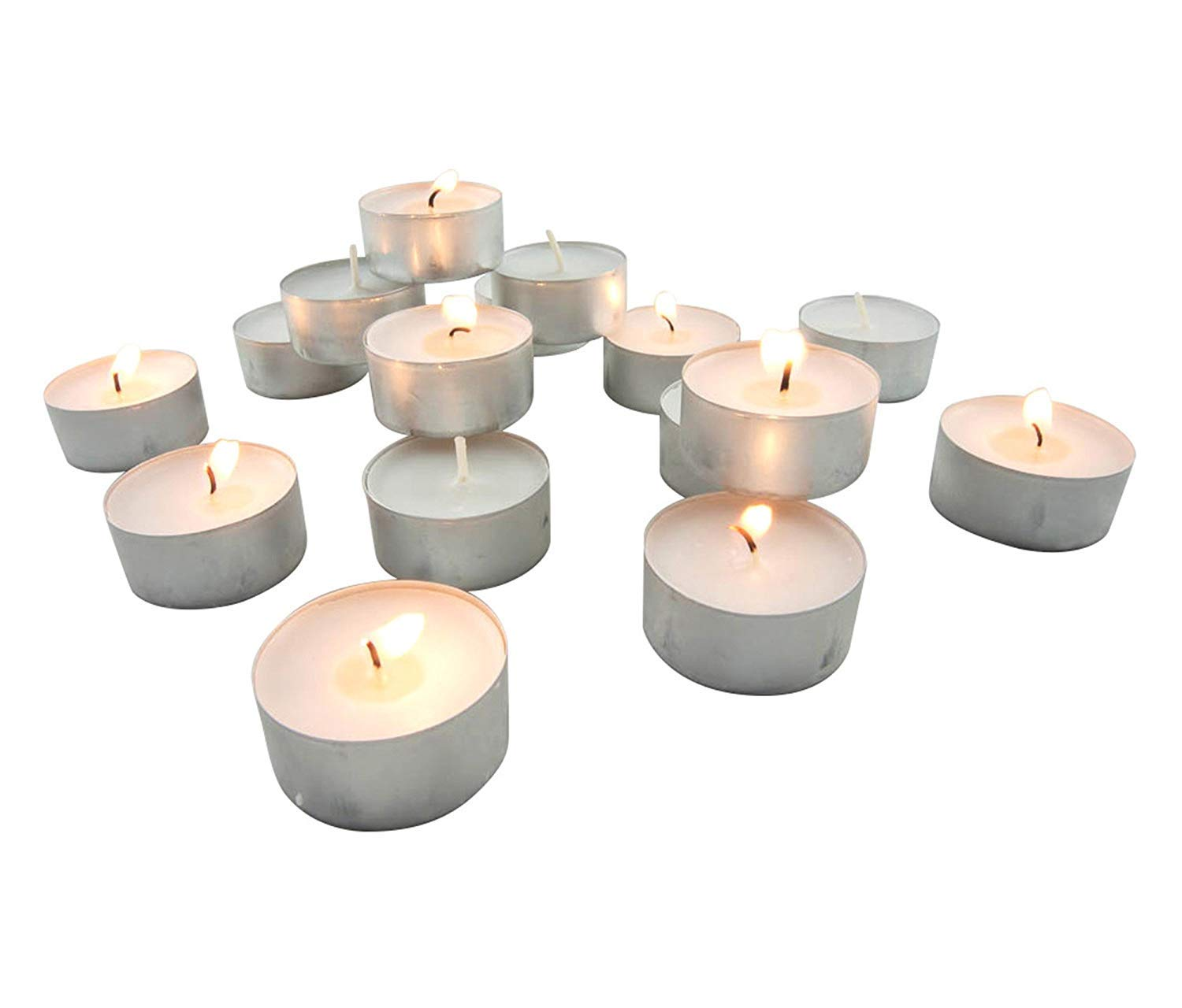 Stonebriar Long Burning Tealight Candles, 6 to 7 Hour Extended Burn Time, Bulk 345-Pack (345 Pack)