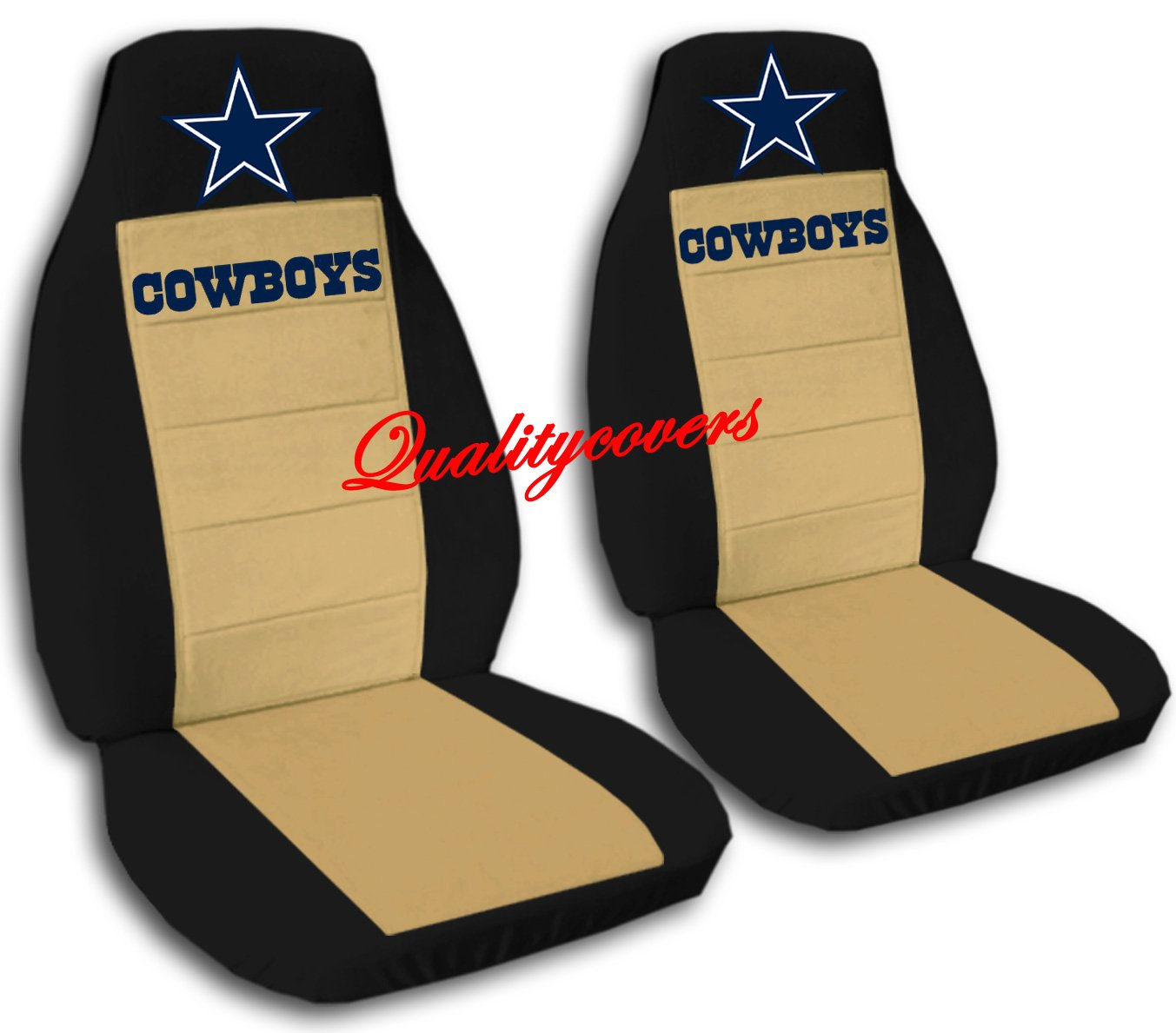 2 Black and Tan Cowboy seat covers for a 2008 Lincoln Navigator. Side Airbag friendly. by Designcovers (Image #1)