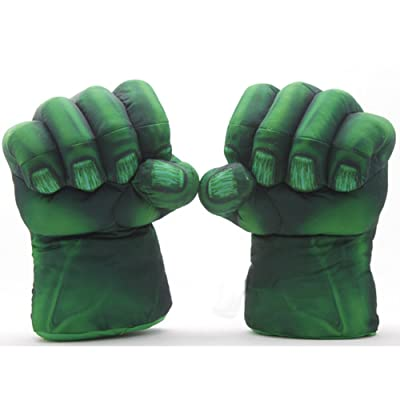 "Eden Fghk 2pcs/1set Plush The Incredible Hulk Gloves 11"" Superhero Figure Hulk Toys Children Christmas Kids Toy: Sports & Outdoors"