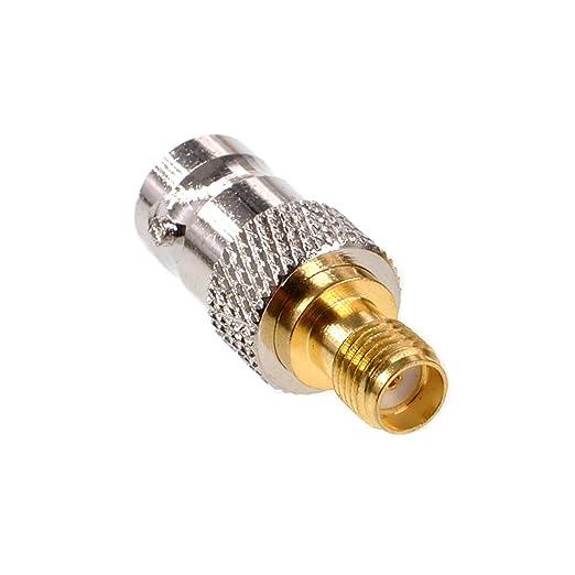 Oiyagai Paquete de 2 adaptadores coaxial BNC hembra a SMA hembra RF BNC a conector coaxial SMA