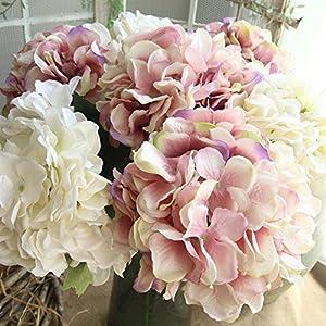 YLCOYO Flowers, Artificial Silk Fake Flowers Peony Floral Wedding Bouquet Bridal Hydrangea Decor (C) 5