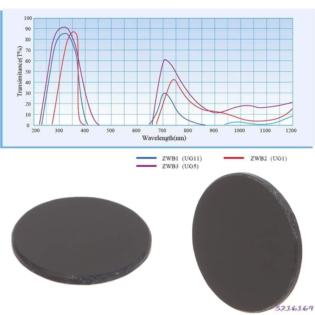 UV Flashlight Diameter 17mm Thickness 1.5mm ZWB2 Ultraviolet UV Band Pass Filter-43# Kamas tools