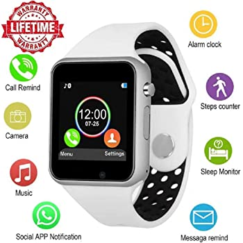 Bluetooth Smart Watch Anti-Lost Smartwatch Touch Screen with SIM Card Slot Camera Music Player Support Android Samsung Huawei Sony iOS iPhone, ...