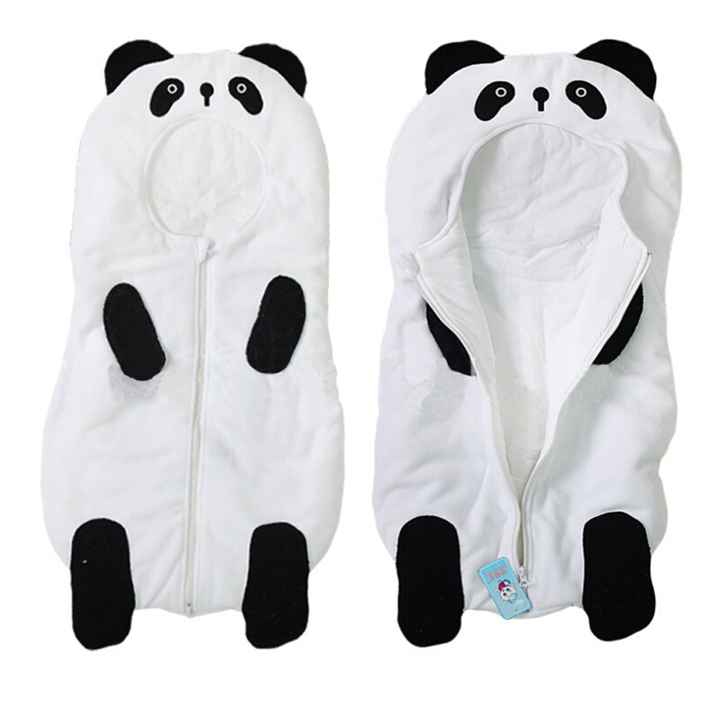Sealive 1 Pack Lovely Hoodie Panda Sleepwear Swaddle Unisex Bodysuit Infant Sleeping Bag,Christmas Birthday Gifts For Baby