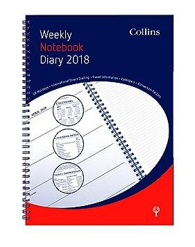 Collins - Agenda semanal de anillas (tamaño A4, año 2018 ...