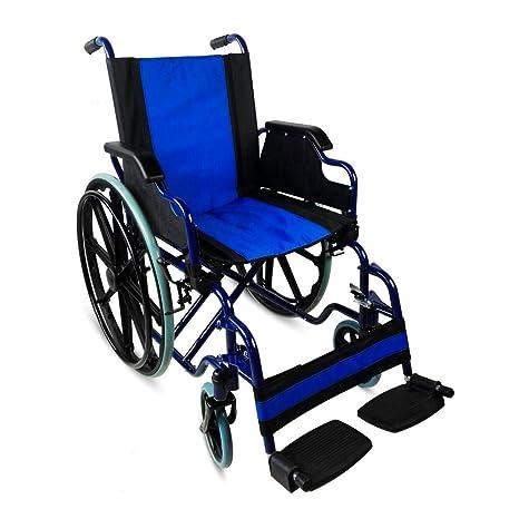 Silla de ruedas plegable | autopropulsable | reposabrazos abatibles | azul | Giralda | Mobiclinic |