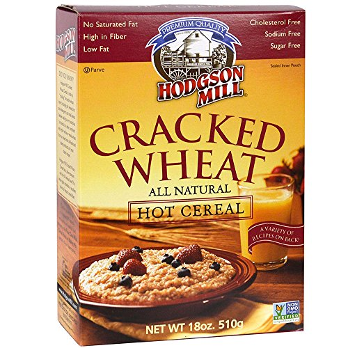 Hodgson Mill Cracked Wheat Cereal, 18-Ounce (Pack of 6), Heart-Healthy Hot Breakfast Cereal for a Wholesome Start to Your Morning, Enjoy With Fresh Berries and Fruit, Cream, Honey or Other Toppings -