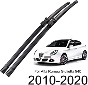 "Xukey 24"" 18"" Front Windshield Wiper Blades Fit For Alfa Romeo Giulietta 940 2010-2020(Set of 2)"