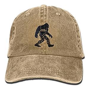 A Bigfoot SasquatchAdjustable Unisex Baseball Cap Fashion Style Hat Cotton Denim Cap
