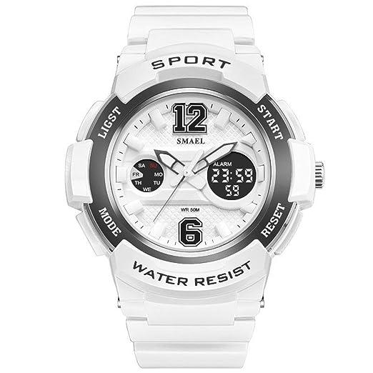 AnazoZ Reloj Deportivo Reloj Mujer Reloj Deportivo Relojes Electronicos Reloj Mujer Quartz Reloj Multifunción Plata Negro: Amazon.es: Relojes