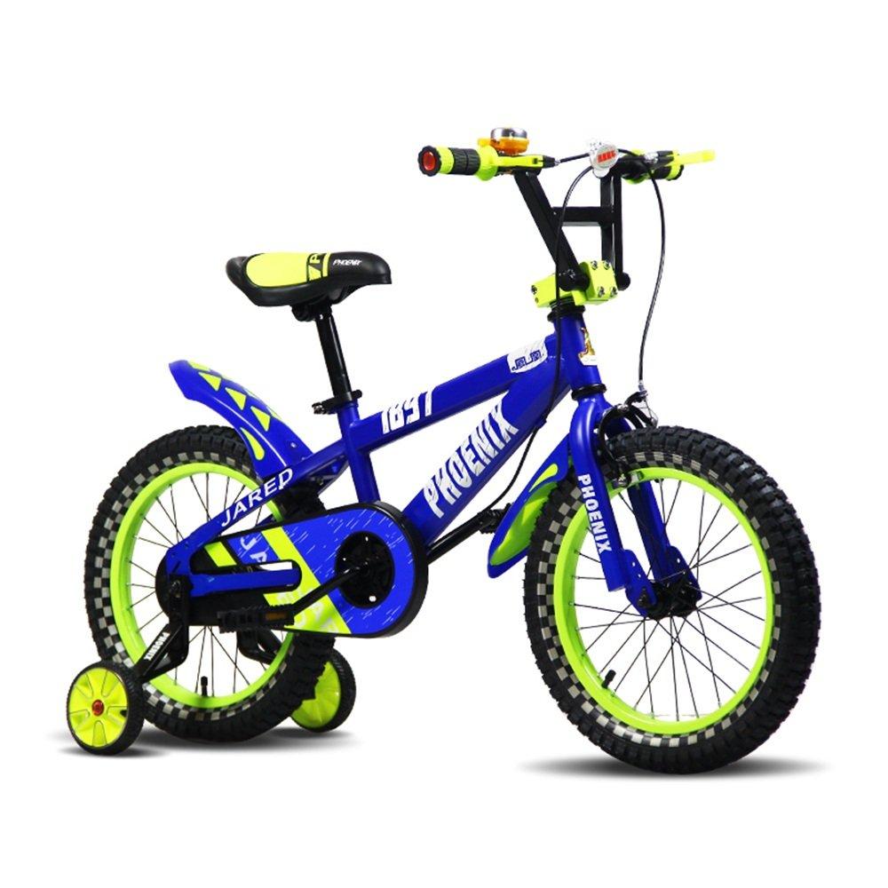 PJ 自転車 子供用自転車12インチの男の子と女の子が青と黒のスタビライザーで|アルミニウムキャリパーブレーキとバックペダルブレーキセキュリティパッケージを含む 子供と幼児に適しています ( 色 : 青 ) B07CR89SYY 青 青