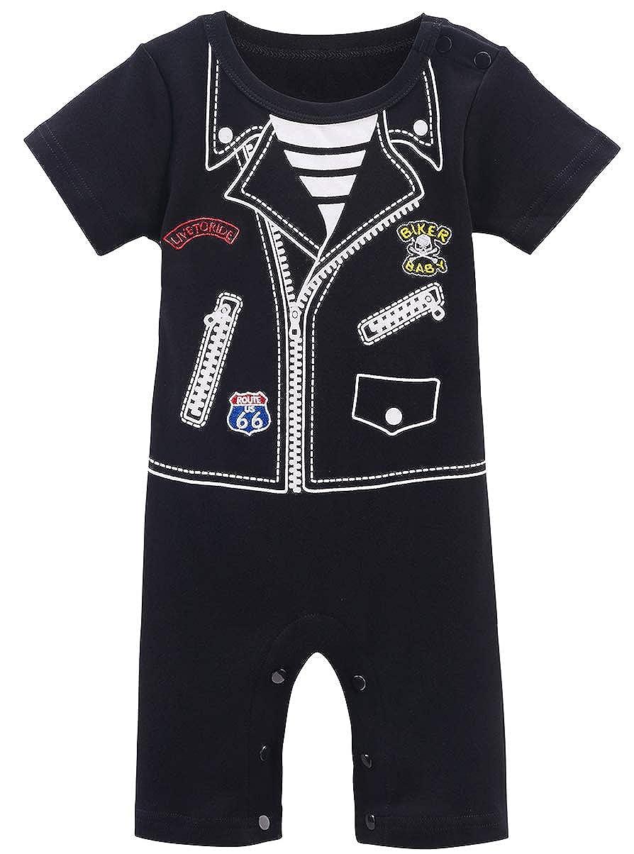 Mombebe Baby Boys Funny Uniform Romper