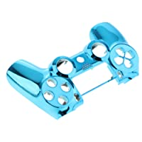 Dolity Plating Front Housing Shell Case Cover for PS4 DualShock 4 Controller (1 Piece Blue ), Easy to Install and Remove