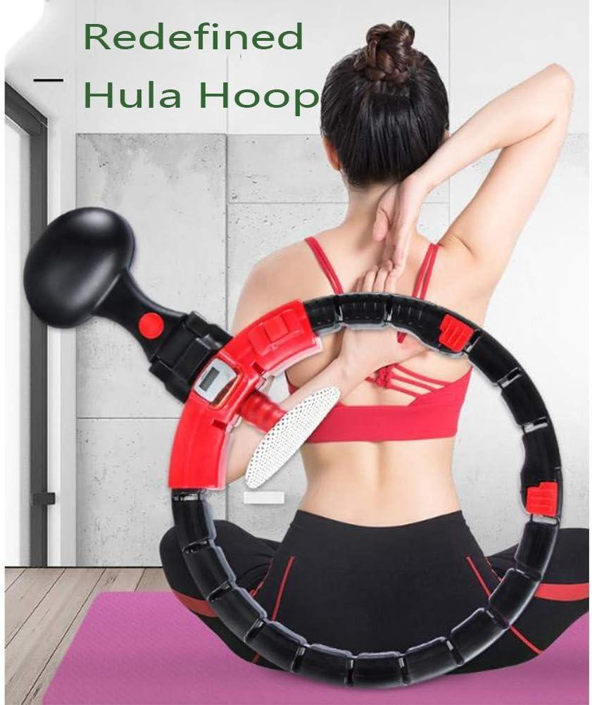Hula Hoop Smart Aro Giratorio Autom/ático con Tama/ño Ajustable Desmontable para Entrenador Principiante P/érdida De Peso anqidexzf Hula Hoop Fitness Ponderado