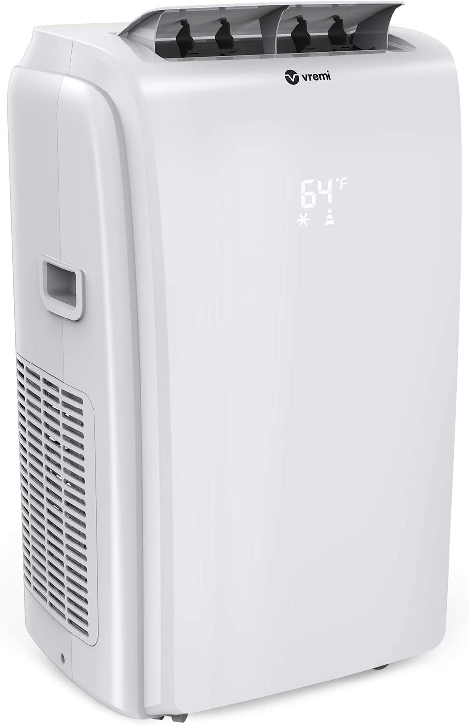 Vremi 12,000 BTU Portable Air Conditioner - Conveniently Cools Rooms 350 to 500 Square Feet - LED Display, Auto Shut-Off, Remote and Dehumidifier Function