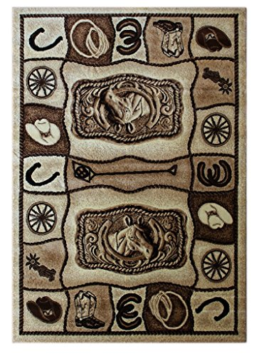 Western Area Rug 5 Ft. 2 In. X 7 Ft. 3 In. Design #L 374
