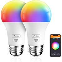 Deals on 2 Pack Amico Smart Light Bulb 9W=60W