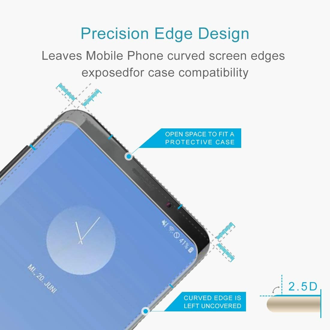 HAIJUN Phone Screen Film 100 PCS 0.26mm 9H 2.5D Explosion-Proof Tempered Glass Film for Galaxy S10 Anti-Scratch Tempered Glass