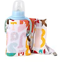 Portable Bottle Warmer, Zipper Design USB Baby Bottle Warmer, Travel Use Home Use Heating Baby Food for Keeping Constant…