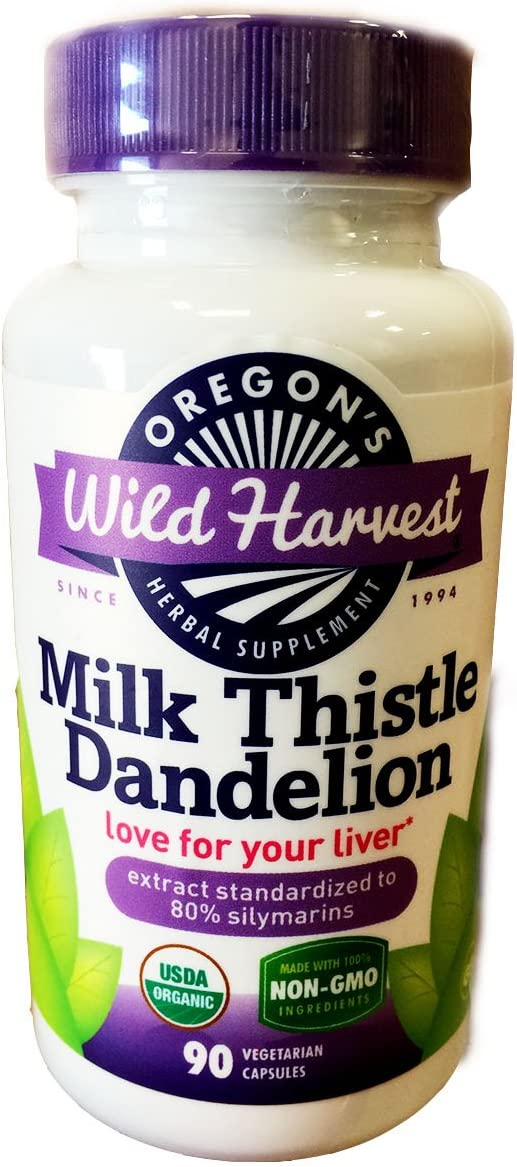 Oregon's Wild Harvest.milkthistle dandelion. 90ct. 2 Pack