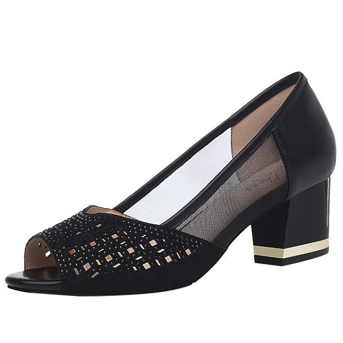 a04c06a4b3c DENER❤ Women Ladies Platform Wedge Pumps Sandals