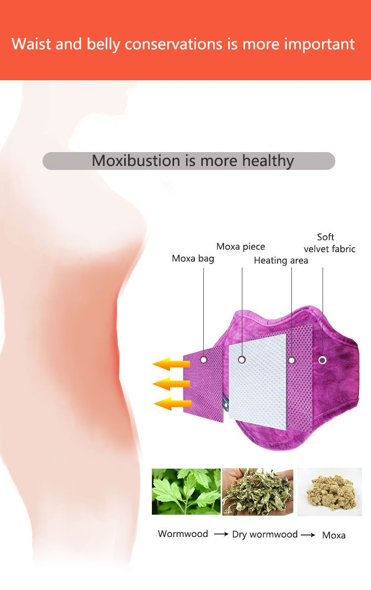 Electric Heating Pad Heated waist Belt for soulder Neck and Lower Back Hot Therapies pain Relief , Women Girls Tummy Belly Keep Warm,Moxibustion hot compress Muscle Relax by Heyeasy (Image #3)