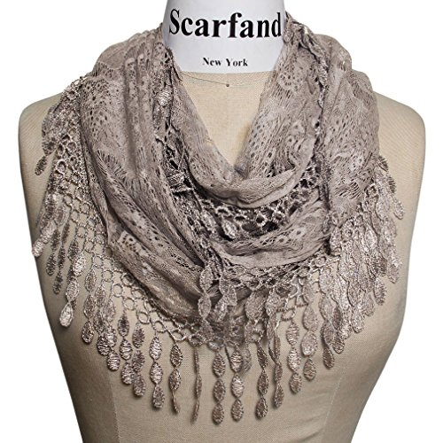 Scarfand's Infinity Scarf with Fringe (Tan)