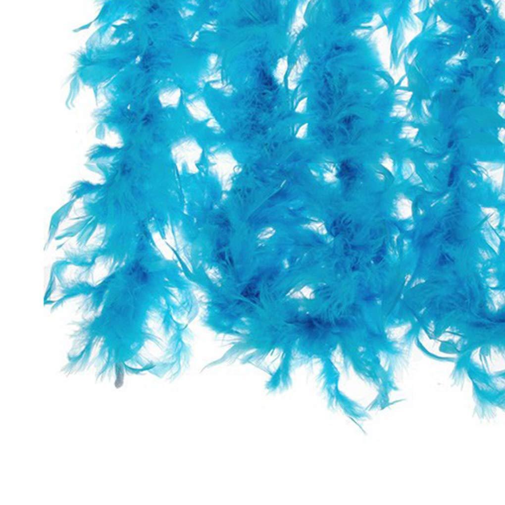 Jinzuke 2 m/ètres Plumes Design Strip v/êtements de d/éguisement Boa D/écorations de soir/ée de Mariage D/écor Solide Couleur