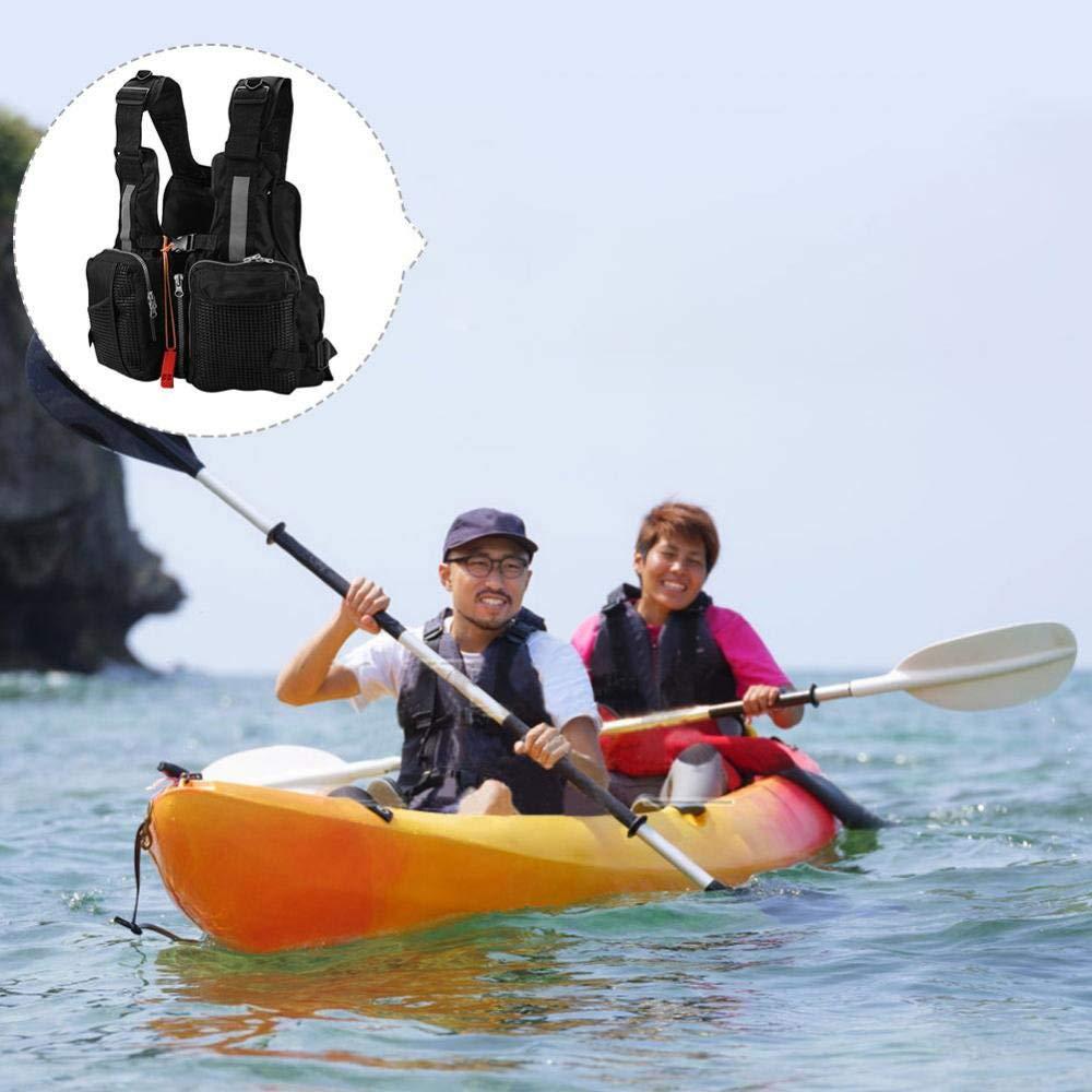 Ajustable para Hombres Acampar Silbato con m/últiples Bolsillos y Raya Reflectante Caza Pesca Lanhope Chamarras Salvavidas Chaleco de Pesca Deportes acu/áticos al Aire Libre Mujeres