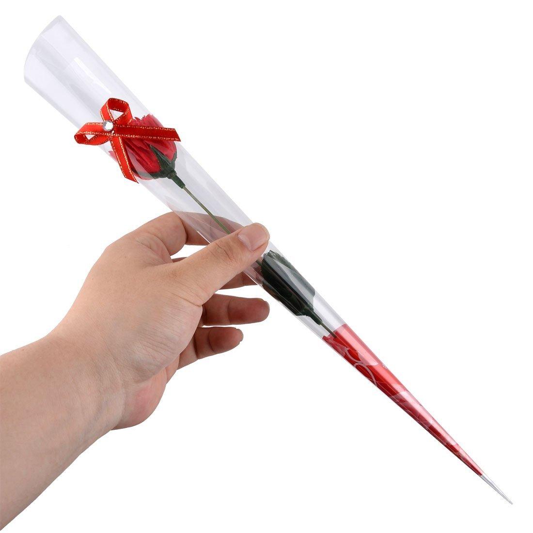 Amazon.com: eDealMax Diseño Jabón Regalo del recuerdo Artificial del pétalo del Clavel ramo de la Flor 3pcs Rojo: Home & Kitchen