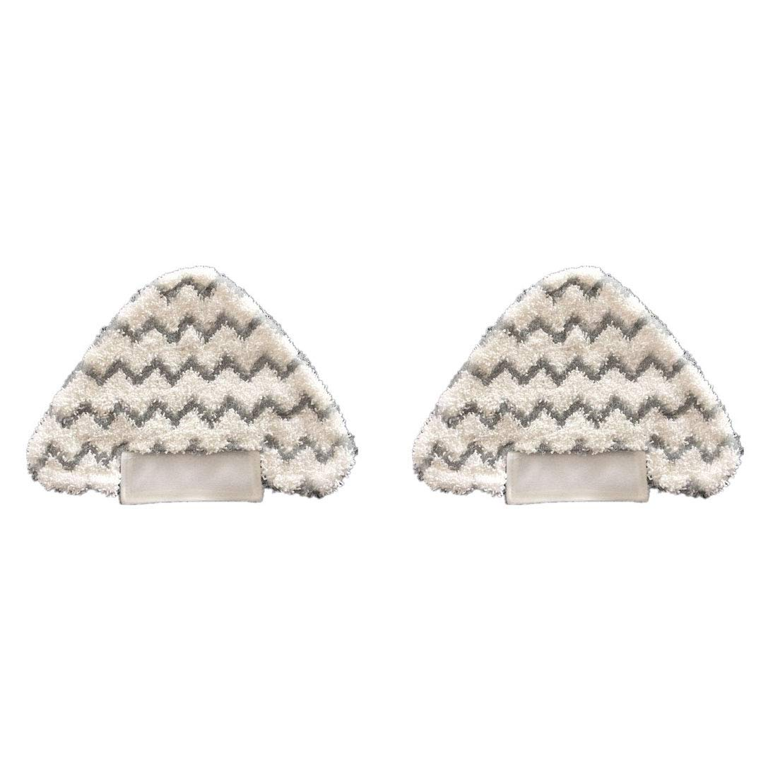2 Triangle Replacement Pads Microfiber Touch Free Dirt Grip Pads for Shark Lift-Away Pro S3973 S3973D Genius Steam Pocket Mop S6002 S6001 S5003D S5001 S3973WM Replaces Part # P182W Washable