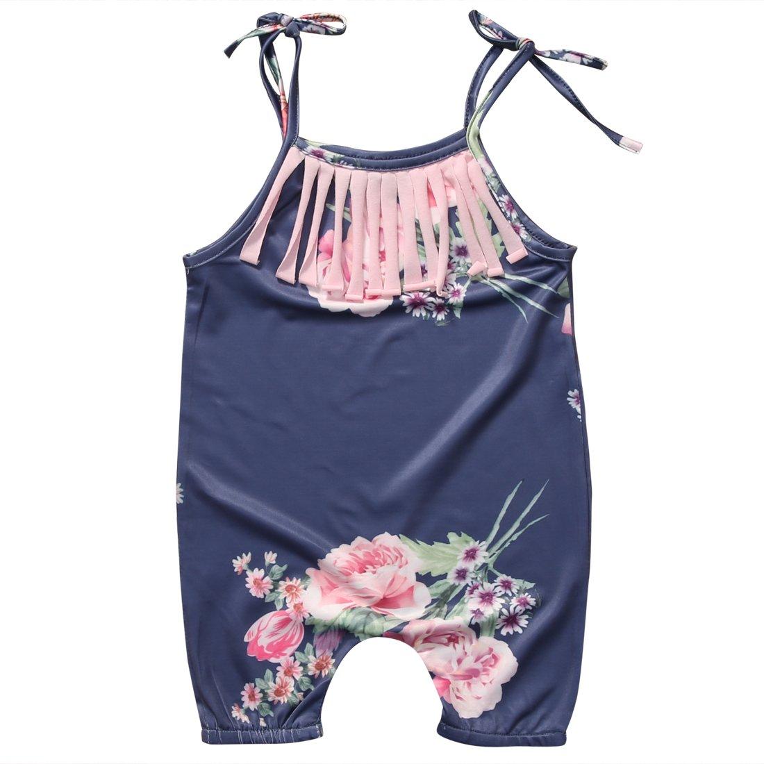 b997b9ee0983 Amazon.com  Charm Kingdom Baby Girls Halter One-Pieces Floral ...