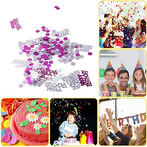 Banners, Streamers & Confetti 2000pcs Confetti Birthday Party Pink Table Decoration Confetti Sprinkles Decor Wedding party Baby shower decorations