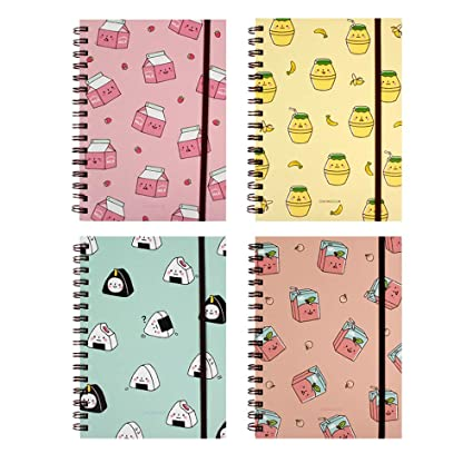 3e5f56834822 Amazon.com : Convenience Store Foods Spiral Hard Cover Band Notebook ...