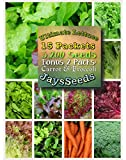 Ultimate Lettuce Combo Lettuce Seeds 3,200 Seeds Upc 788045381420 (15 Lettuce Packets) Bonus Carrot & Broccoli