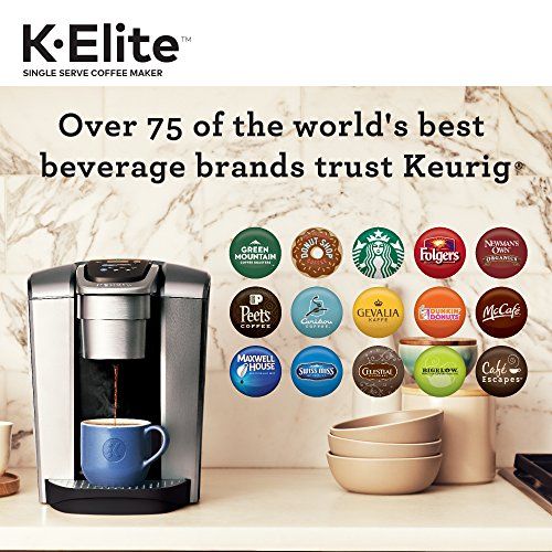 Keurig K-Elite K Single Serve K-Cup Pod Maker, with Strong Temperature Control, Iced Coffee Capability, 12oz Brew Size, Programmable, Brushed Silver by Keurig (Image #5)