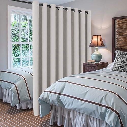 H.VERSAILTEX Blackout Patio Curtains 100 x 108 Inches