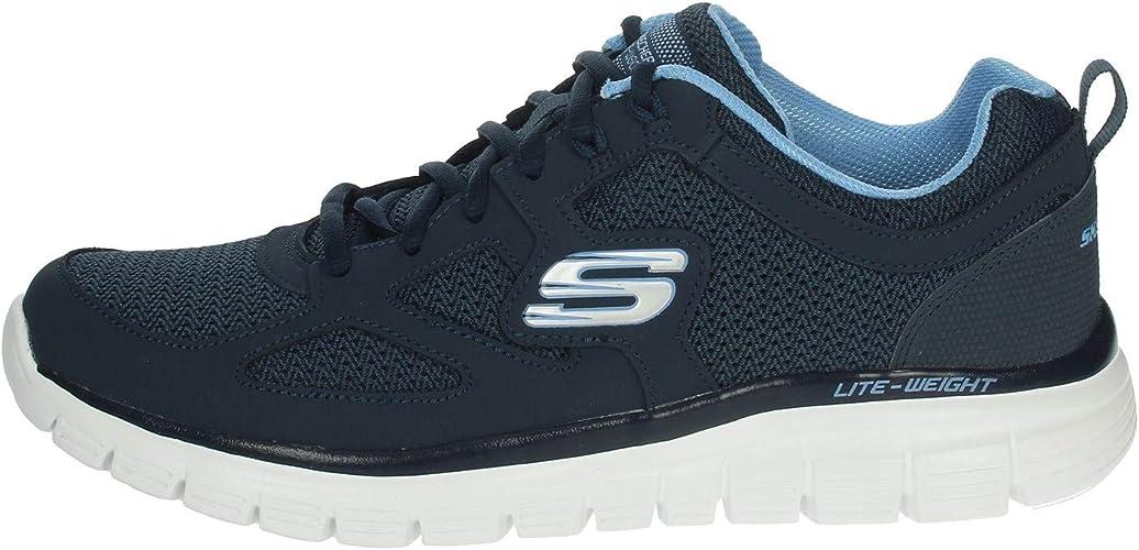 Cerveza inglesa depositar mármol  Skechers Men's Burns 52635-bbk Low-Top Sneakers: Amazon.co.uk: Shoes & Bags