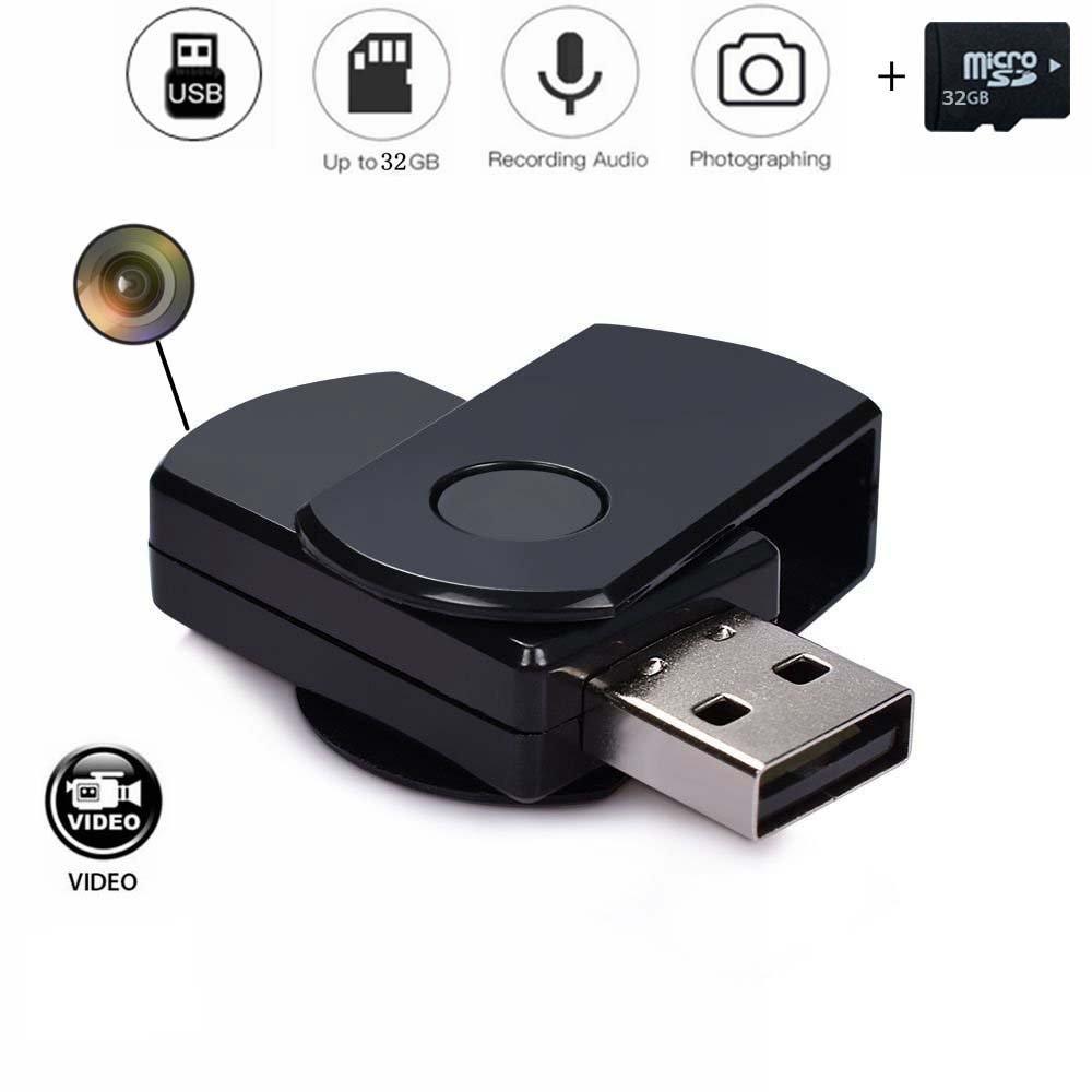 codomoxo® Llavero Llave USB con Mini cámara espía HD ...
