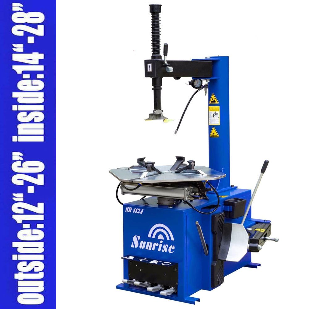 Single 1.5HP Tire Changer Wheel Changers Machine 112A with 12 Month Warranty