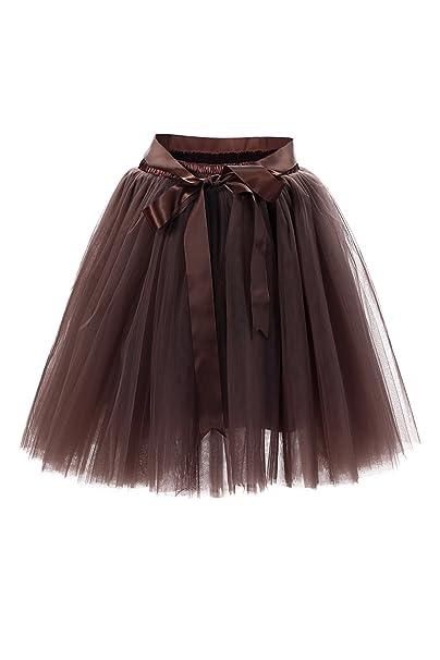 d6c50b369cfea8 Babyonline® 6 Schichten Petticoat Unterrock Elastic Bund Tutu Prinzessin  Tüllrock Für Karneval, Party und Hochzeit