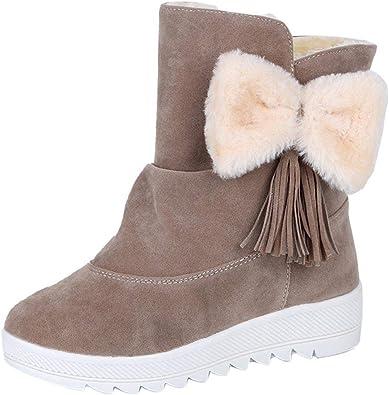 femmes hiver chaud épais Semelle antidérapante lacées Bottes de neige