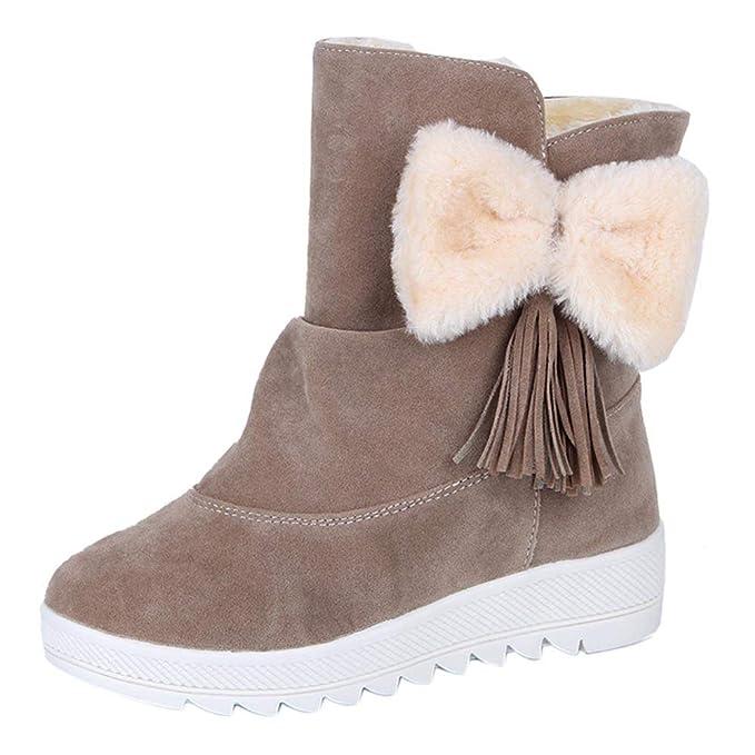 LANSKRLSP Stivali Donna Invernali Autunno con Tacco Stivaletti Boots Scarpe  Donna Calde  Amazon.it  Abbigliamento a2b94adb2a3